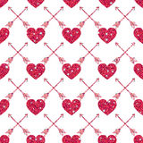 Valentine Heart Seamless Pattern 1 Photo libre de droits