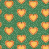 Valentine heart seamless pattern background love sign, for internet content, decoration Stock Images