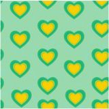 Valentine heart seamless pattern background Stock Photo