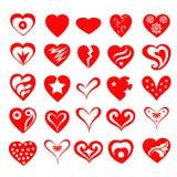 Valentine Heart Set-Vector Stockbild