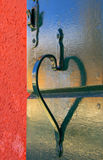 Valentine Heart. Shadow of a door handle forming a valentine heart shape Royalty Free Stock Photography