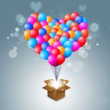 Valentine Heart Shape Balloons Photo stock