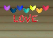 Valentine heart shape design for love symbols. Retro style. Vector. Royalty Free Stock Photos