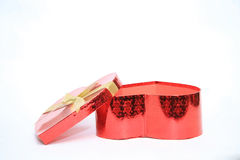 Valentine Heart Shape Gift Box Fotografía de archivo libre de regalías