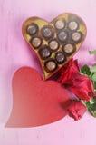 Valentine Heart Shape Gift Box Immagine Stock Libera da Diritti