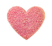 Valentine Heart Shaped Cookie with Sugar Sprinkles Royalty Free Stock Photography