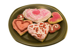 Valentine Heart Shaped Cookies Stock Photo