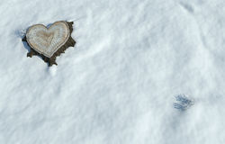 Valentine heart shaped tree trunk Stock Photo
