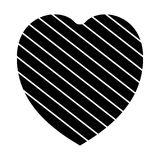 Valentine heart simbol. heart black colour on white background. Valentine heart simbol. heart black colour on white background vector illustration