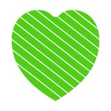 Valentine heart simbol. heart green colour on white background. Valentine heart simbol. heart green colour on white background vector illustration