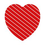 Valentine heart simbol. heart red colour on white background. Valentine heart simbol. heart red colour on white background stock illustration