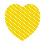 Valentine heart simbol. heart yellow colour on white background. Valentine heart simbol. heart yellow colour on white background royalty free illustration