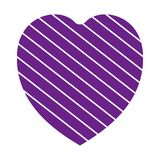 Valentine heart simbol. heart purple colour on white background. Valentine heart simbol. heart purple colour on white background royalty free illustration