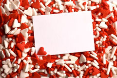 Valentine heart sprinkles Royalty Free Stock Photography