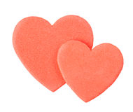 Valentine heart sticker Stock Photo