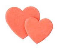 Valentine heart sticker Stock Photo
