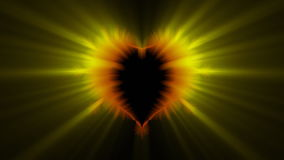 Valentine heart, stock footage Royalty Free Stock Images
