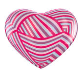 Valentine Heart. Heart with striped pattern texture Royalty Free Stock Photos