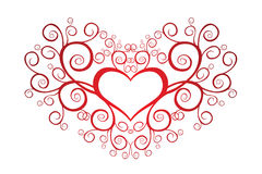 Valentine heart with swirls. Heart Shape Royalty Free Stock Photo