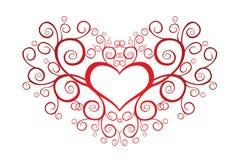 Valentine heart with swirls. Heart Shape Royalty Free Stock Photo