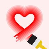 Valentine Heart Symbol Imagenes de archivo