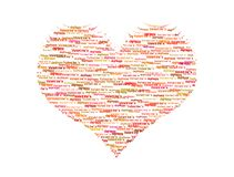 Valentine heart from text Stock Photos