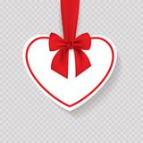 Valentine heart tied with red ribbon and bow. EPS 10 Royalty Free Stock Images