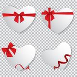 Valentine heart tied with red ribbon and bow. EPS 10 Stock Photography