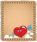 Valentine heart topic parchment 1 Royalty Free Stock Photo