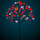 Valentine heart tree Royalty Free Stock Images