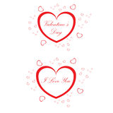 Valentine heart. Two red Valentine heart (Vlentine's Day Royalty Free Stock Photo