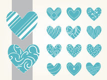 Valentine heart vector set Stock Images