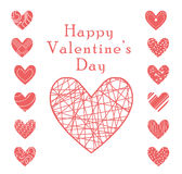 Valentine heart vector set Royalty Free Stock Photography