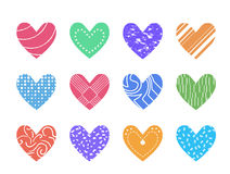 Valentine heart vector set  ,love symbol icon. Stock Photo