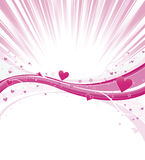 Valentine Heart Wave with Burst Royalty Free Stock Photos