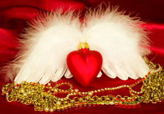 Valentine heart with wings Royalty Free Stock Photos