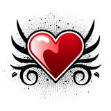 Valentine heart with wings stock image