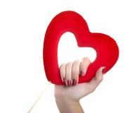 Valentine hearth Stock Image