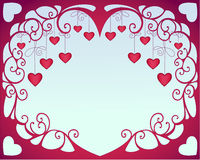 Valentine hearts. On blue background Royalty Free Stock Photos