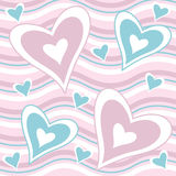 Valentine hearts. Valentine background with pink and blue hearts Stock Illustration