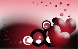 Valentine hearts. Background of heartshape forms suitable for valentine or romantic occasion Royalty Free Stock Image