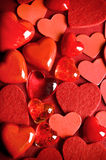 Valentine hearts. Various red hearts like Valentine romantic concept stock image