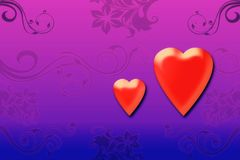 Valentine hearts Royalty Free Stock Photos