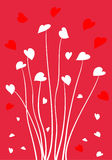 Valentine hearts. Valentine day greeting card with hearts stock illustration