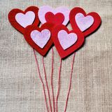 Valentine Hearts Foto de Stock Royalty Free