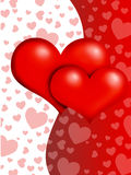 Valentine hearts. Illustration of valentine hearts background Royalty Free Stock Photos