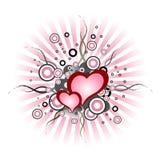 Valentine hearts. Grunge design with valentine hearts Stock Images
