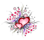 Valentine hearts. Grunge valentine hearts for your design Stock Photography