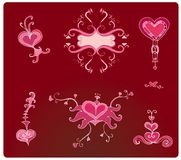 Valentine hearts. Valentine design elements.  To see similar illustrations, please visit my gallery Stock Photo