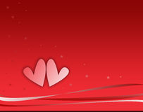 Valentine hearts. On red background Stock Photography